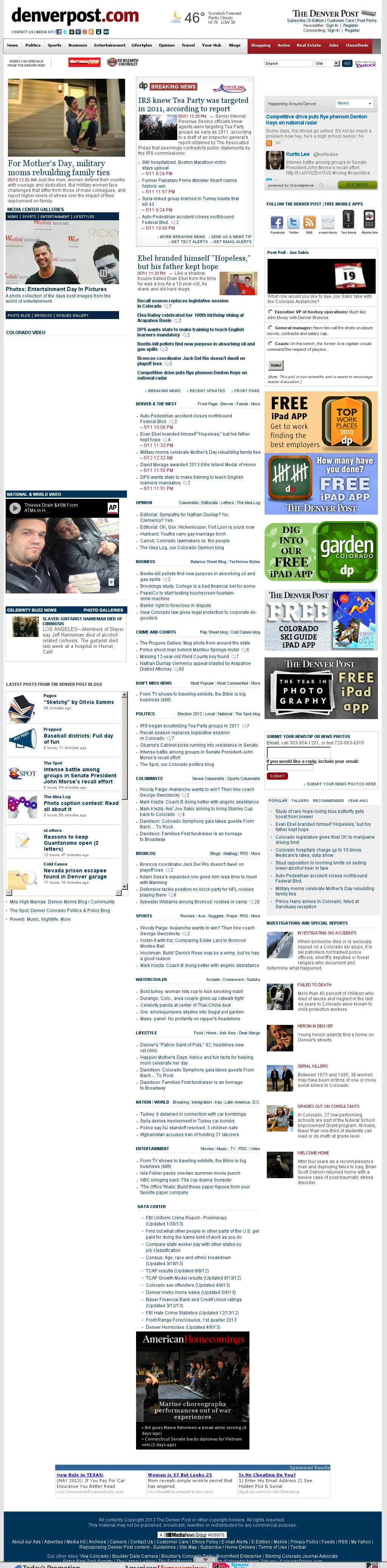 Denver Post at Sunday May 12, 2013, 12:04 p.m. UTC