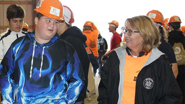 Senator Helming joins hundreds of students at Finger Lakes Works… With Their Hands!
