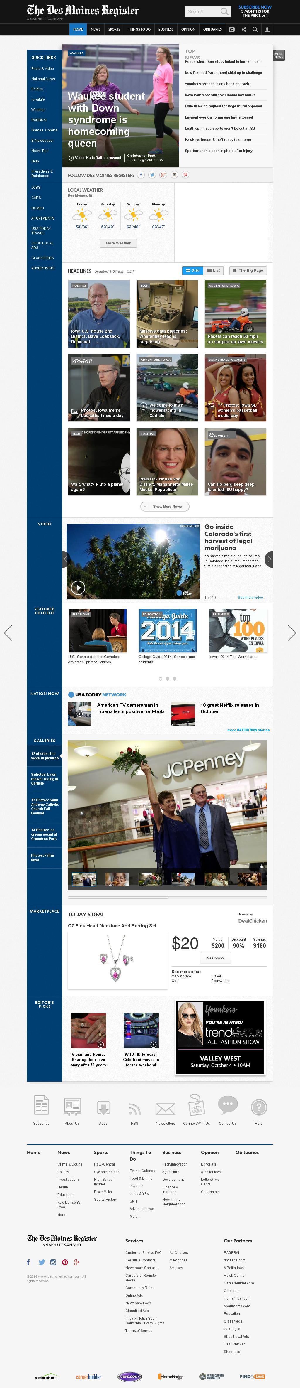 DesMoinesRegister.com at Friday Oct. 3, 2014, 8:03 a.m. UTC