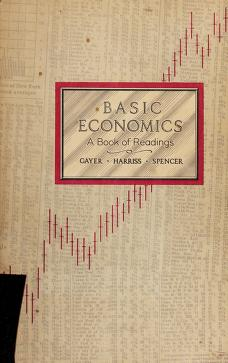 Cover of: Basic economics | Gayer, Arthur D.