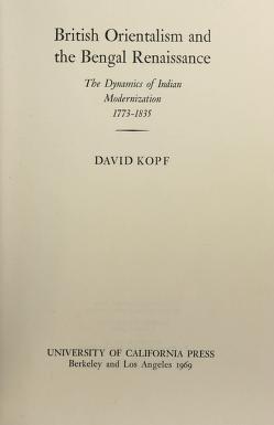 Cover of: British Orientalism and the Bengal renaissance   David Kopf