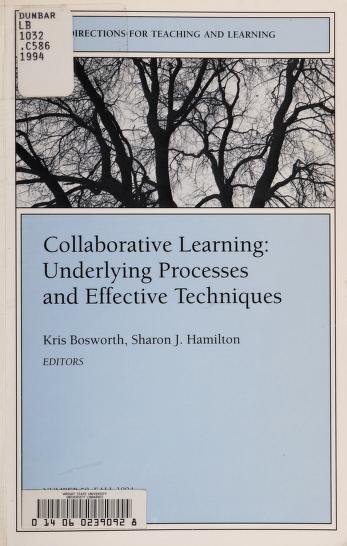 Collaborative learning by Kris Bosworth, Sharon J. Hamilton, editors