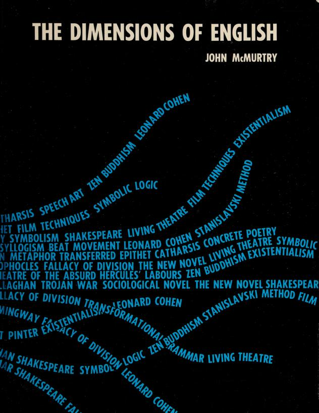 The dimensions of English by John McMurtry