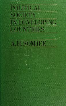 Cover of: Political society in developing countries | A. H. Somjee